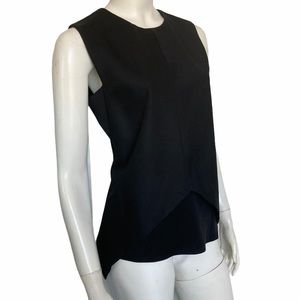 Narcisco Rodriguez side Zipper fitted top crewneck
